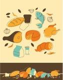 Jedzenie set ilustracja wektor