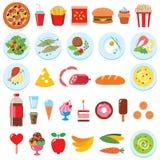 Jedzenie set Zdjęcie Stock