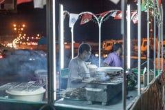 Jedzenie stojak w Nizwa, Oman Obraz Royalty Free