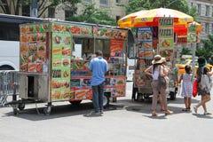 Jedzenie stojak w Nowy Jork Zdjęcia Stock