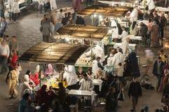 Jedzenie stojaki w Marrakesh Zdjęcie Royalty Free
