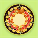 jedzenie ustawiony talerz Zdjęcie Royalty Free