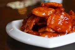Jedzenie w Chiny smażył mięso Słodki mięso zdjęcia royalty free