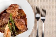 Jedzenie w talerzu zdjęcie royalty free
