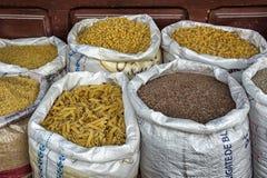 Jedzenie w Targowym souk w Fes, Maroko Obraz Royalty Free