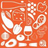 jedzenie wzór Zdjęcie Stock
