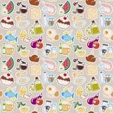 Jedzenie wzór Fotografia Stock