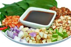 Jedzenie zawijający w liściach Zdjęcie Royalty Free