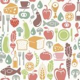 Jedzenie zdrowy wzór Obraz Stock