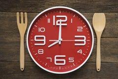 Jedzenie zegar pojęcia zdrowe jedzenie Zdjęcia Stock