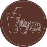 jedzenie znak Zdjęcia Stock