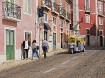 Jedzie Tk Tuk w Lisbon obraz stock