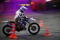 Jeździec przy stylu wolnego Motocross Obraz Stock