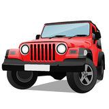 Jeep. Illustration of jeep on white background Royalty Free Stock Photos