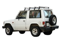 Jeep. Old (and a bit (re)tired looking) land cruiser car from eighties Royalty Free Stock Photography