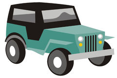 Jeep. Art illustration in black and white: a stylized jeep Royalty Free Stock Photo