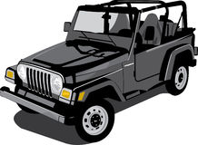 Jeep. A  illustration of a black jeep Stock Photo