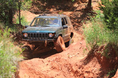 Jeep action at Oklahoma Off Road Park Stock Image