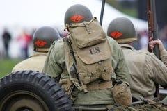 Jeep américaine de la guerre mondiale d'armée 2 Photographie stock libre de droits