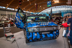 Jeep azul Imagen de archivo