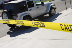 Jeep Behind Police Tape Stock Photos