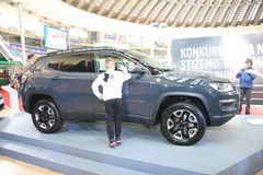 Jeep bij het Car Show van Belgrado Royalty-vrije Stock Foto