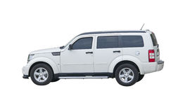 Jeep blanche de détour Photo libre de droits