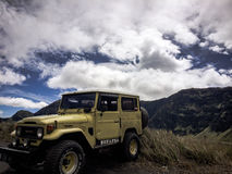 Jeep on the Bromo Mountain Stock Photography