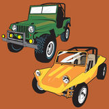 Jeep and Buggy Stock Photography