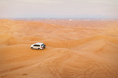 Jeep car in desert safaris, United Arab Emirates Stock Photography