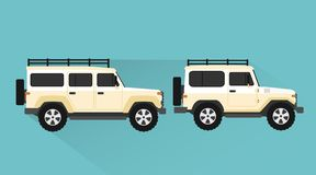 Free Jeep Car Design Flat Style.Vector Illustration Royalty Free Stock Photo - 136632865