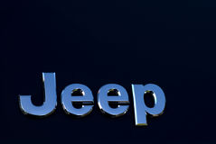 Jeep car logo stock photography