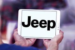 Jeep car logo. Logo of jeep car brand on samsung tablet royalty free stock photo