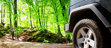 Jeep car offroad dirt adventure trail Stock Image