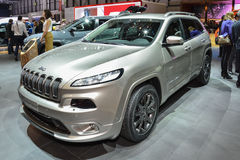 Jeep Cherokee at the Geneva Motor Show Royalty Free Stock Images