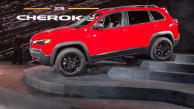 2019 Jeep Cherokee, NAIAS Stock Photography