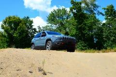 Jeep Cherokee novo TrailHawk 4x4 Fotos de Stock