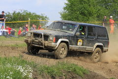 Jeep Cherokee in an offroad race Royalty Free Stock Photography