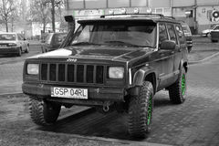 Jeep Cherokee parked Stock Image