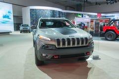 Jeep Cherokee Trailhawk 免版税库存照片