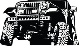 Free Jeep Climber Vector Illustration Stock Photography - 171006502