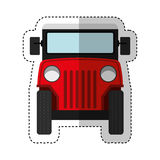 Jeep colombian car vehicle. Vector illustration design Royalty Free Stock Images