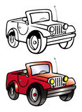 Jeep coloring book Stock Photos