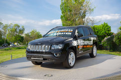Jeep Compass-Showmodell stockfoto