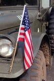 Jeep d'armée de la deuxième guerre mondiale Images libres de droits