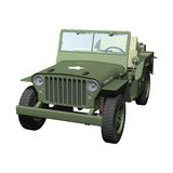Jeep. 3D digital render of a jeep isolated on white background vector illustration