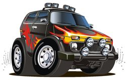 Jeep de dessin animé de vecteur Image libre de droits
