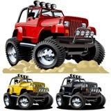 Jeep de la historieta Imagen de archivo libre de regalías