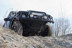 Jeep de Niva. campo a través Fotos de archivo libres de regalías