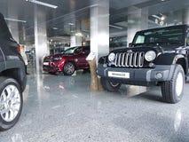 Jeep de salle d'exposition de voiture de l'Ukraine Kiev le 21 janvier 2018 Photo stock